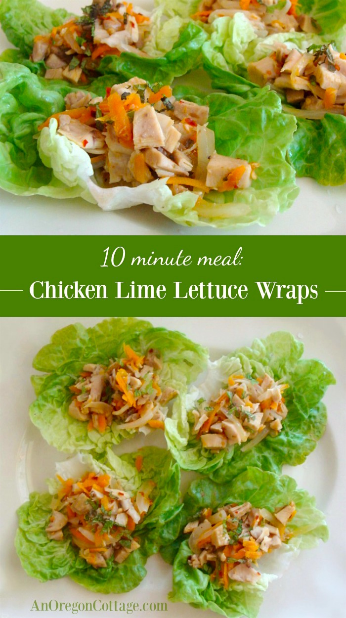 Chicken Lime Lettuce Wraps-an delicious 10 minute meal with rotisserie chicken
