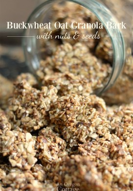 Simple Healthy Buckwheat Oat Granola Bark with Nuts & Seeds