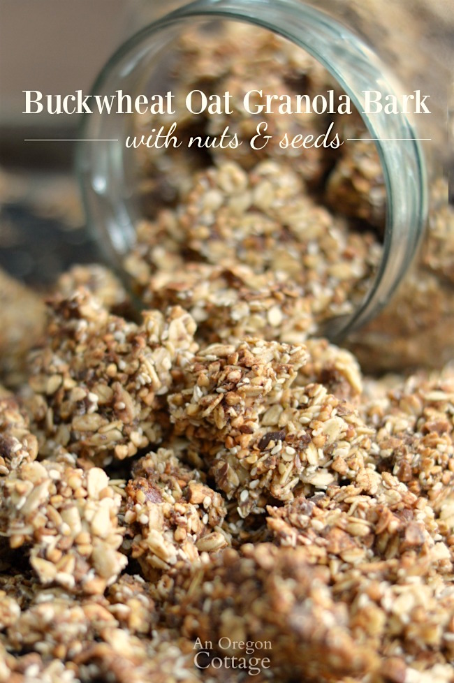 Easy recipe for Buckwheat-Oat Granola Bark with Nuts & Seeds