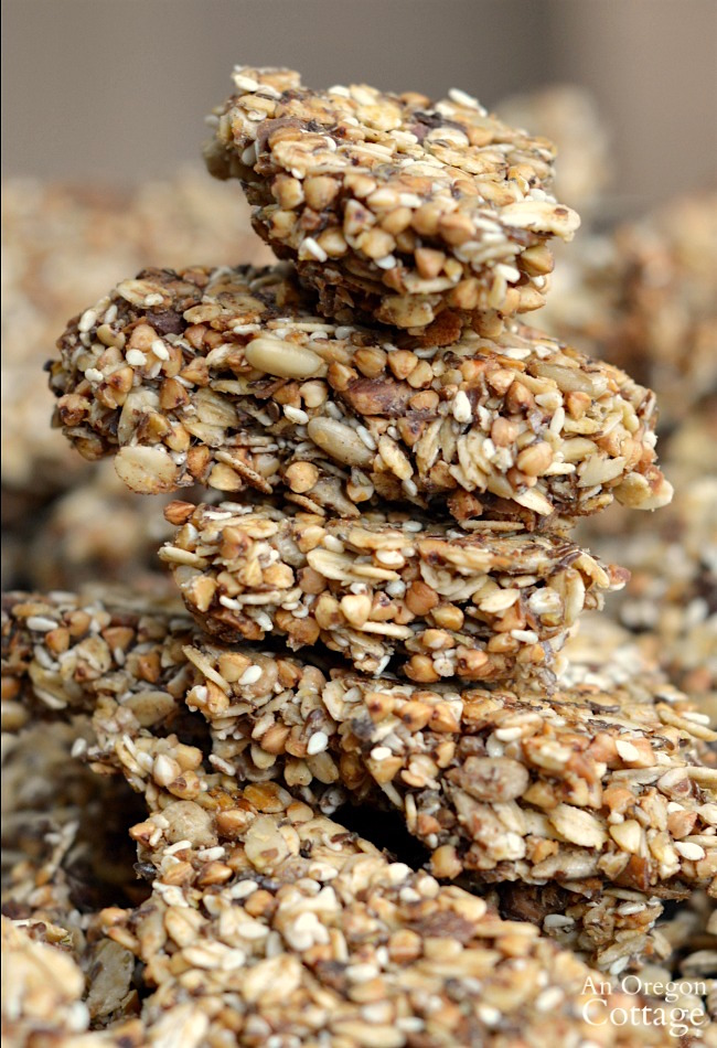 Buckwheat oat granola bark chunks