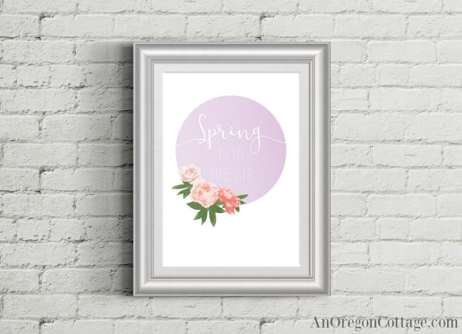 Free floral spring printable