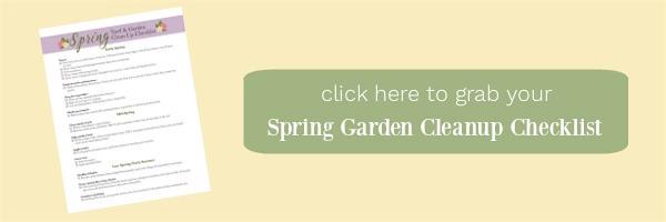 Spring garden cleanup checklist button