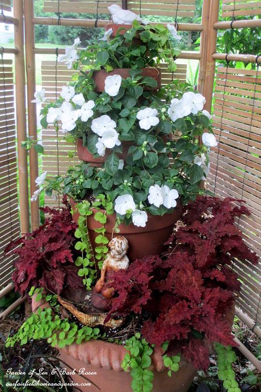 Container Garden Ideas inspirational container gardens Container Gardening Ideas For Shade Impatiens Coleus Creeping Jenny At Our Fairfield Home