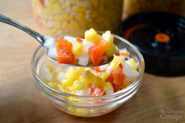 Foolproof Pickled Fermented Corn Relish