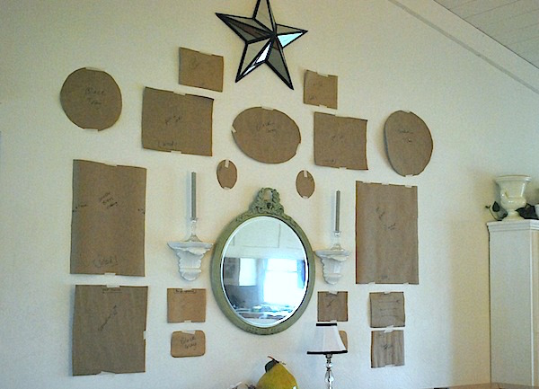 Eclectic Gallery Wall Step 1-Paper templates