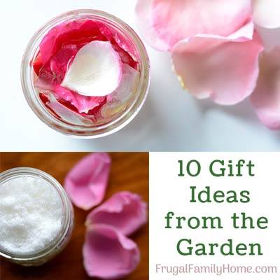 10 Gift Ideas from the Garden at Frugal Family Home