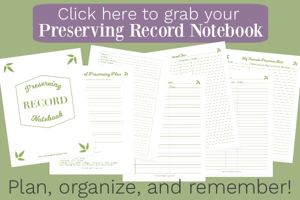 Click here to grab your preserving record notebook