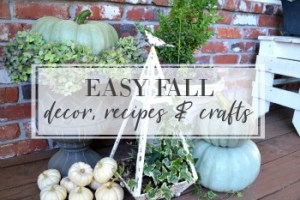 Fall decor, recipes, and crafts