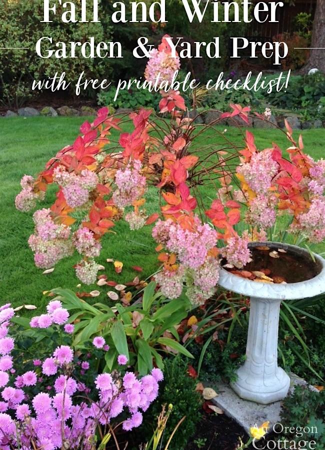 Fall-Winter Garden Tasks that help your garden thrive, not just survive - with printable checklist!