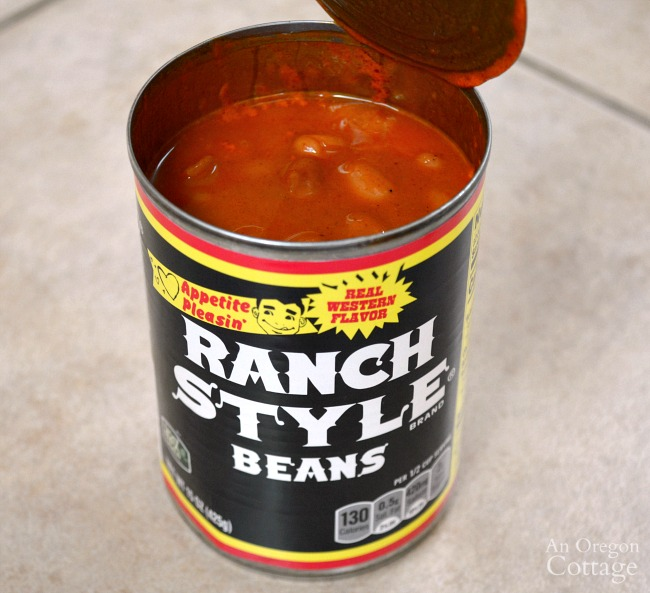 Ranch style beans can