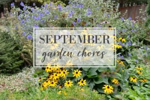 September Garden Task Checklist