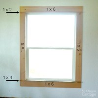 Clean & Simple 1920s Farmhouse Window Trim DIY   An Oregon ...