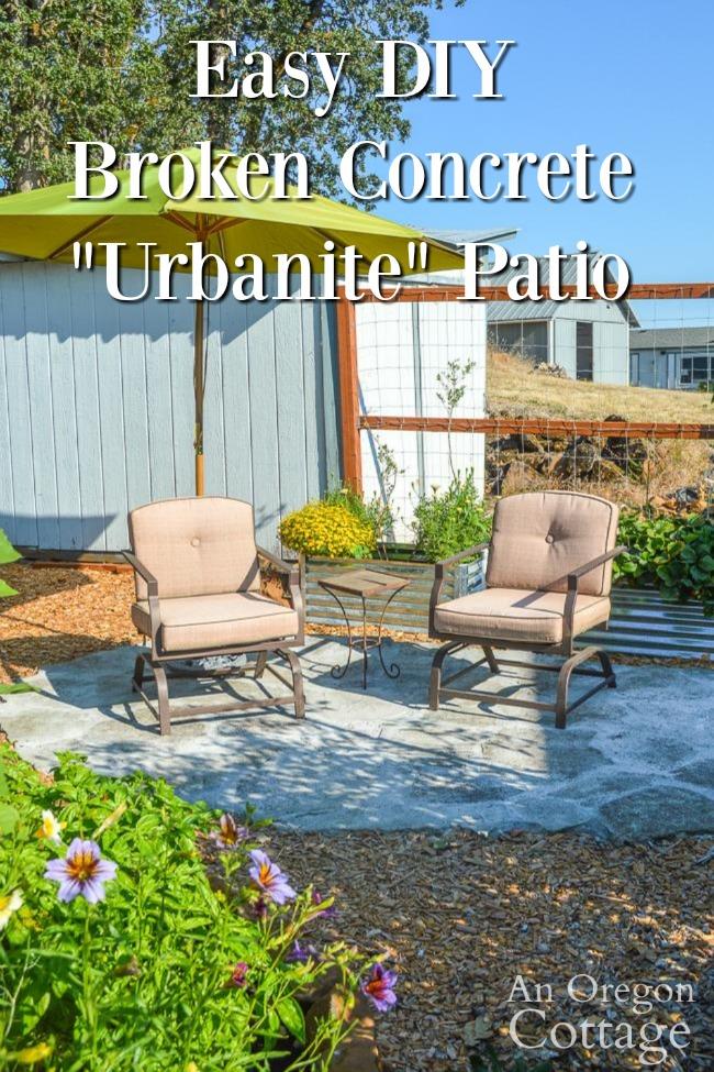 diy broken concrete patio urbanite