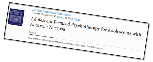 2010 AFT AFP-AN Adolescent-focused therapy for anorexia
