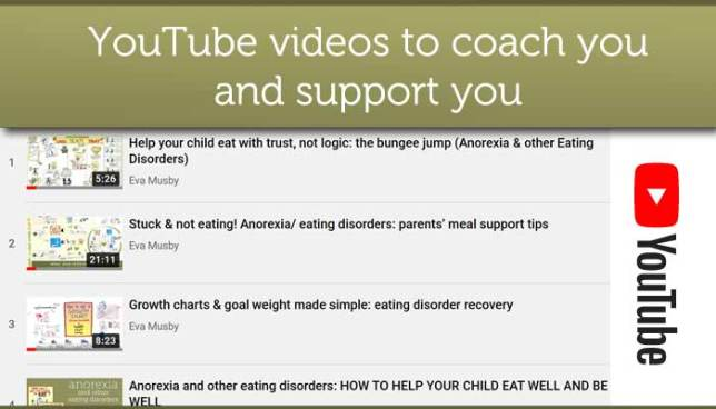 YouTube videos to help parents of a son or daughter with anorexia/eating disorder