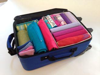 organized luggage