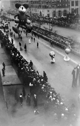 Mickey Mouse 1st Appearance in Macy's Parade in 1934