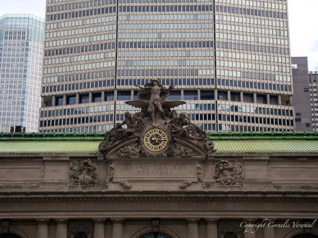 The clock on Grand Central Terminal in New York City
