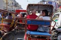 Dick and Karen in a bike rickshaw