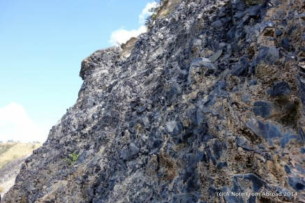 Natural wall of obsidian