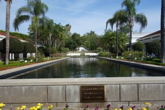 Exterior gardens and reflection pond