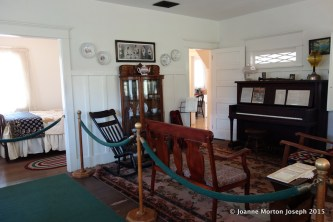 Interior of Richard Nixon's birthplace