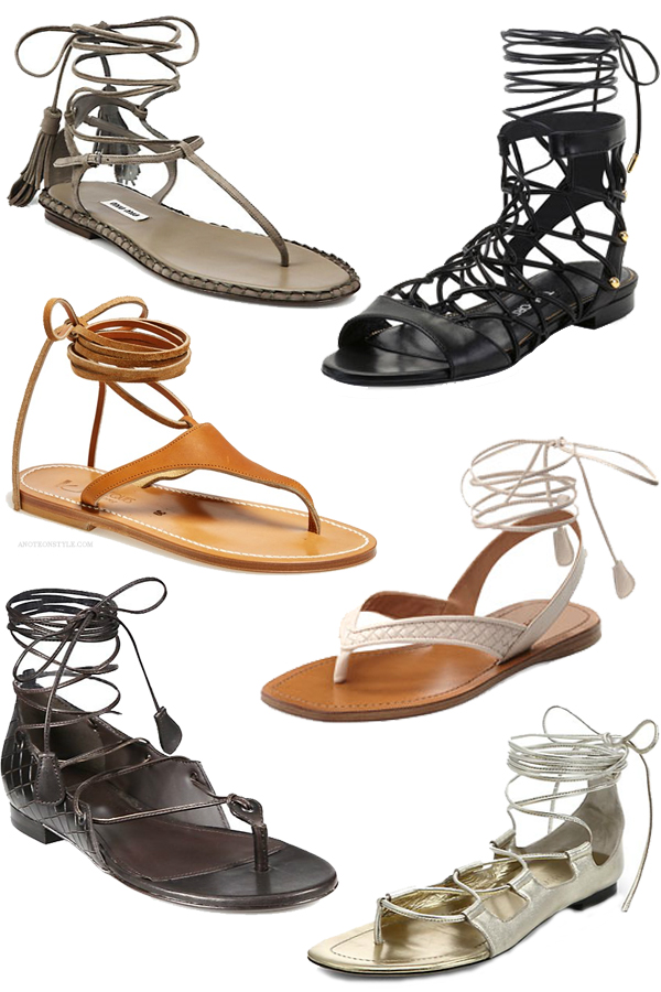Skinny Wrapped Ankle Straps