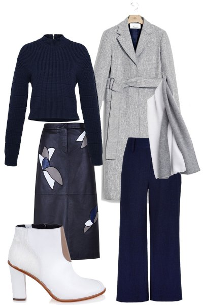 Navy & Gray Fall Pieces to Wear into Spring