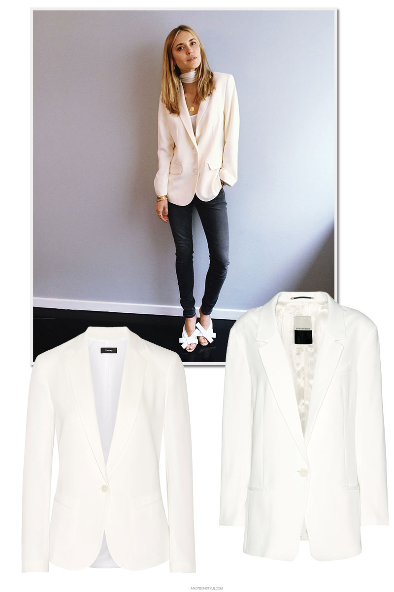 A Soft, White Blazer