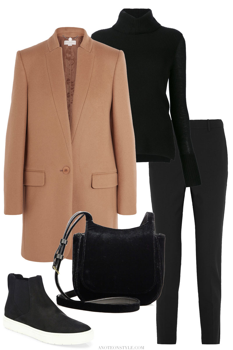 A Timeless Combo – Black and Camel