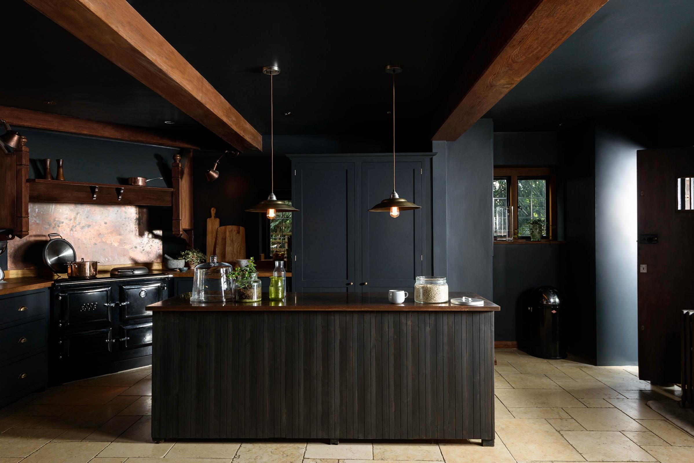 The Dark and Moody Petersham Kitchen