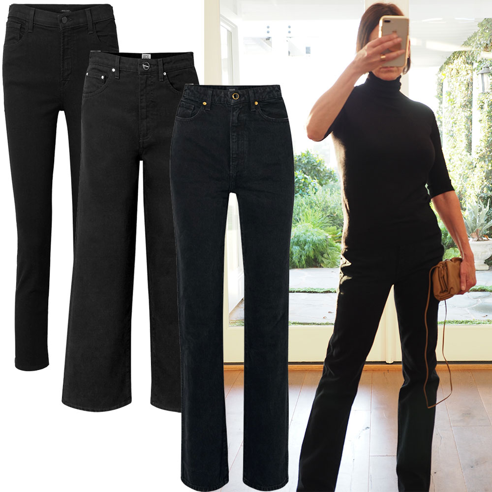 THREE BLACK JEANS