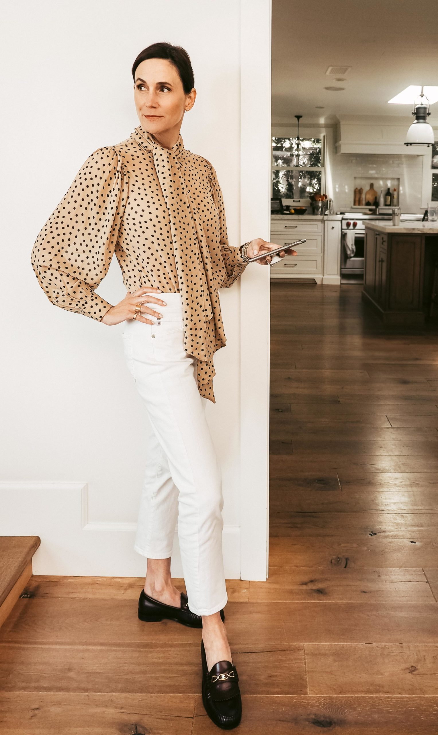 NOT YOUR BASIC BLOUSE AND SWEATER