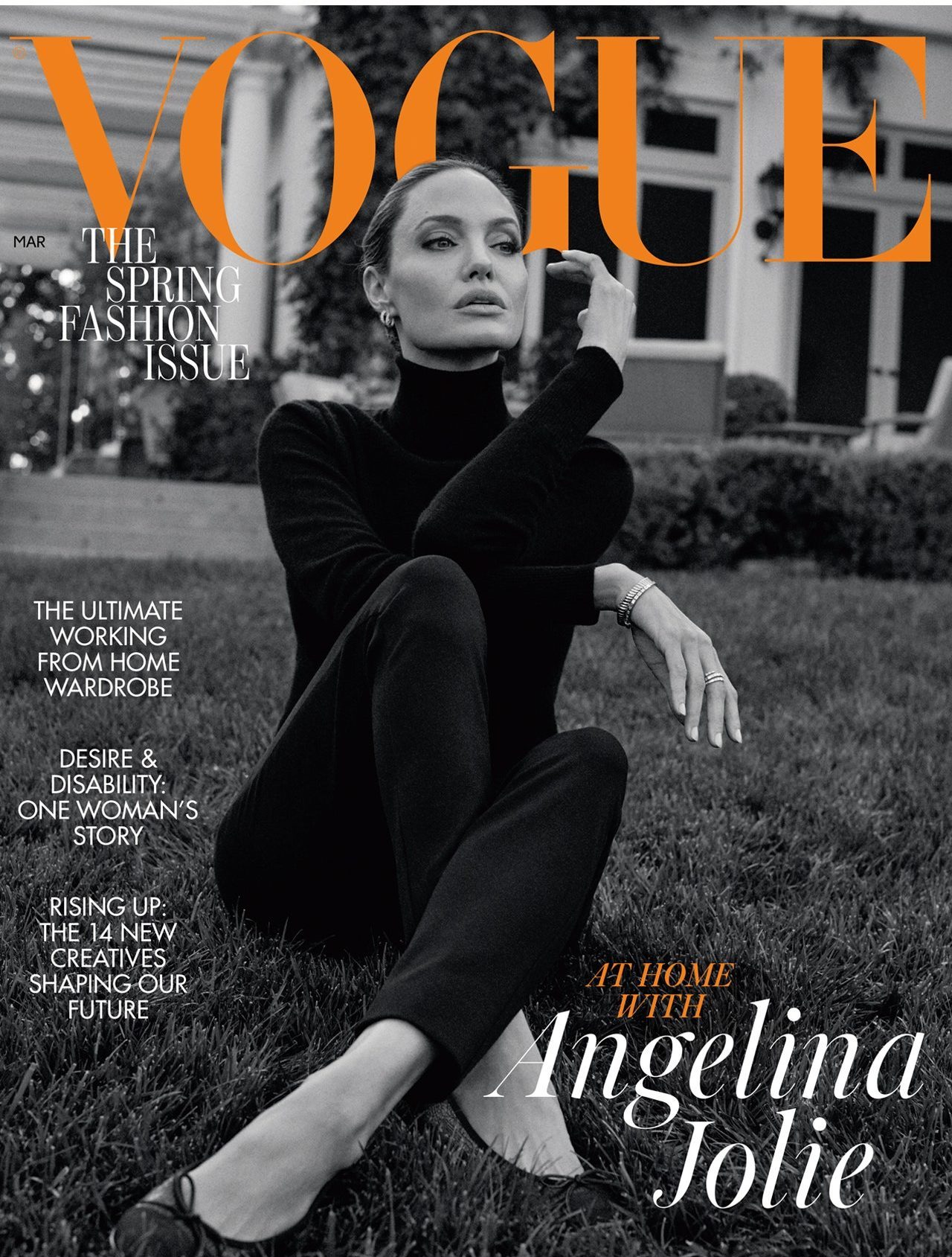 AT HOME WITH ANGELINA JOLIE