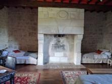 Normandy B&B Honfleur fireplace