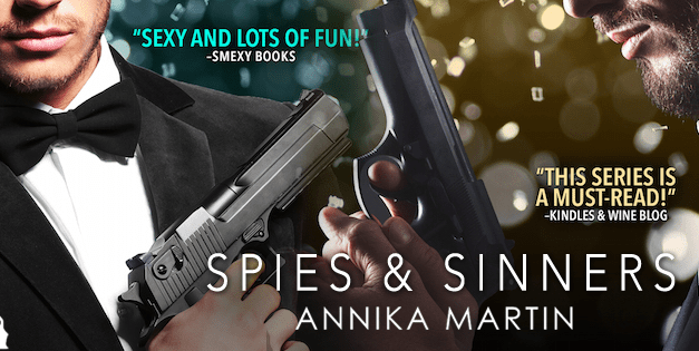 Spies & Sinners by Annika Martin Cover Reveal