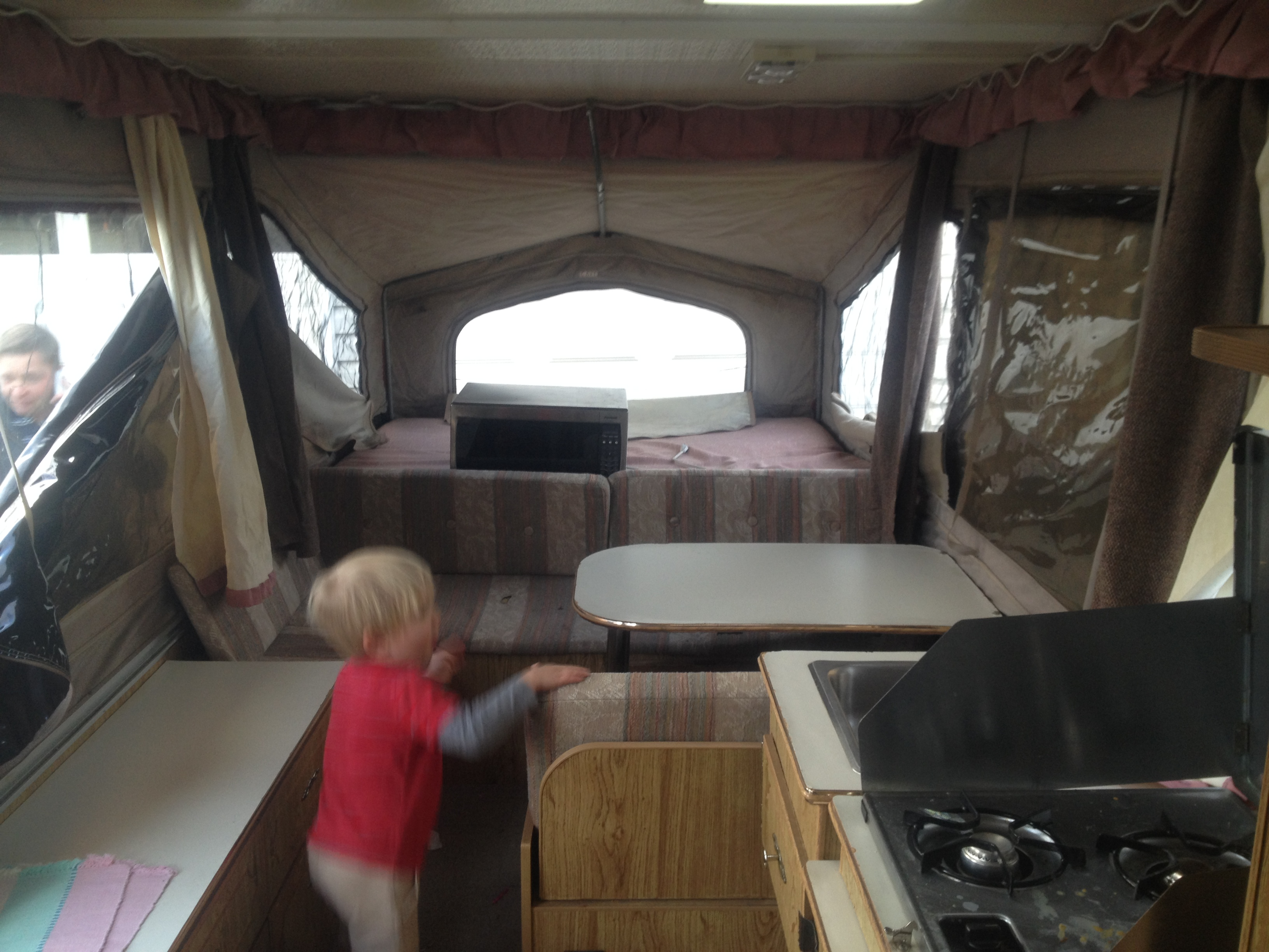 Thrifty Pop Up Camper Remodel On A Small Budget Another