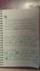 The handwritten version