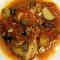 Roasted Chicken with Potatoes and Tomatoes