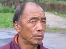 Monk, Bumthang monastery, Bhutan