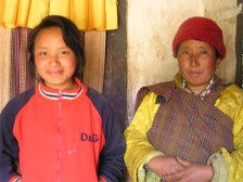 Restaurant owners, Ura valley, Bhutan