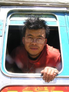 Truck driver, somewhere near Ura, Bhutan