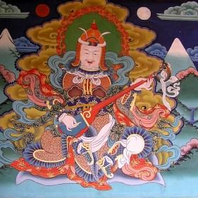 Mural in Punkha Dzong, Bhutan