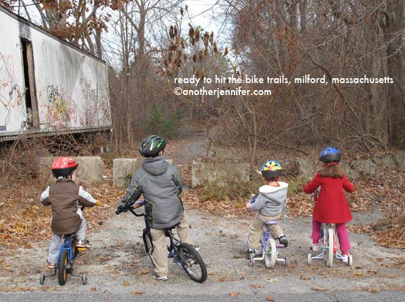 kids at bike trail