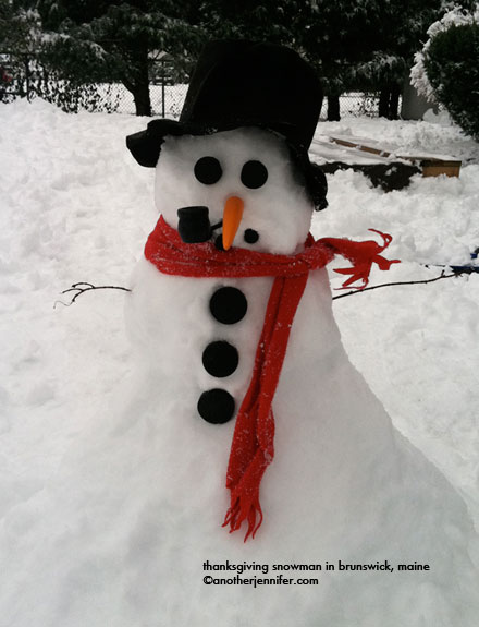 thanksgiving snowman