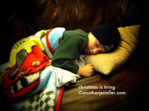 Wordless Wednesday (12.26.12): Christmas is Tiring by Jennifer Barbour
