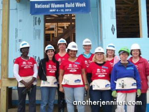 women build week in maine