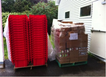 A Shipment of BackPack Program supplies from Good Shepherd Food Bank