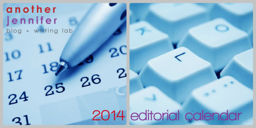editorial calendar 2014
