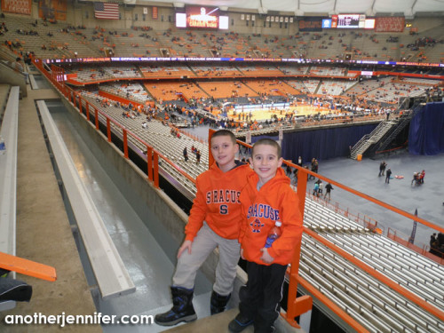 G and Biz in their new Syracuse Orange gear.